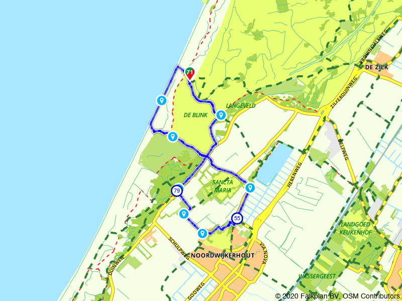 Wandelen door de duinen en de bollenvelden rondom Noordwijk