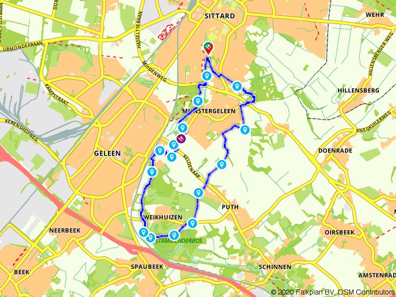 Van Sittard via Sweikhuizen naar de Geleenbeek