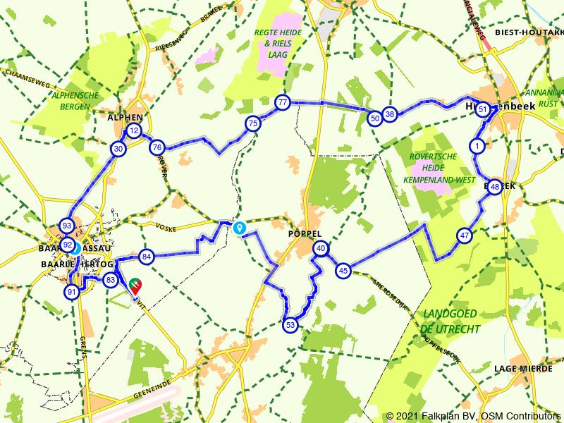 Genietroute bossen en landgoederen bij Baarle