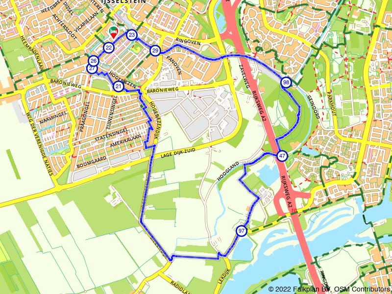 IJsselstein: langs de Kromme IJssel