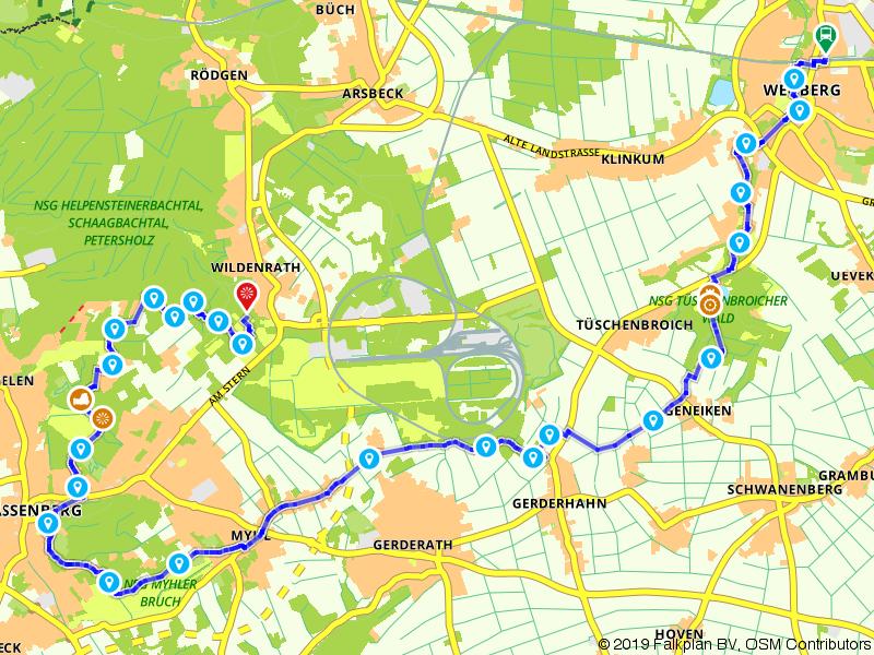 Maas-Niederrheinpad etappe 14