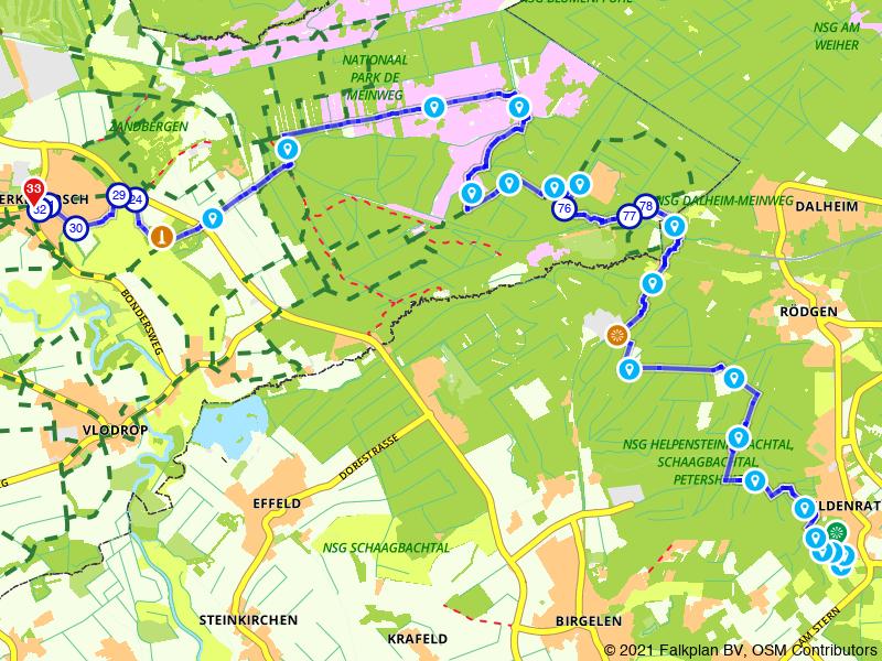 Maas-Niederrheinpad etappe 15