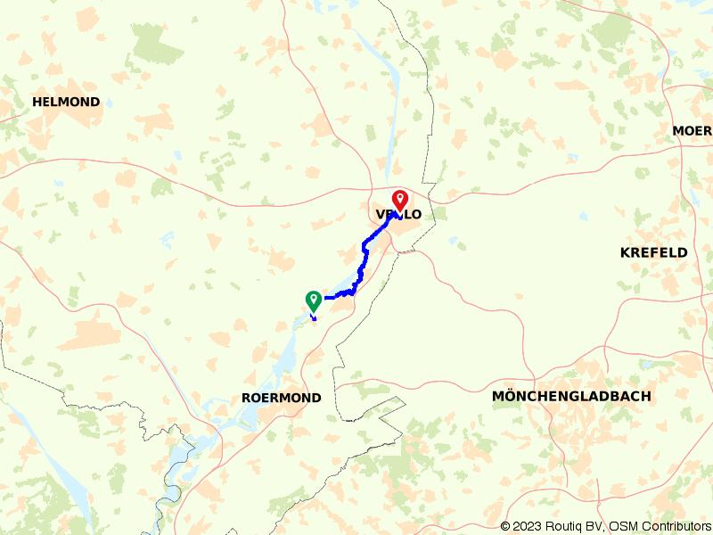 Maas-Niederrheinpad etappe 19