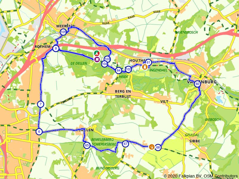 Fietsen door het buitengebied van Maastricht