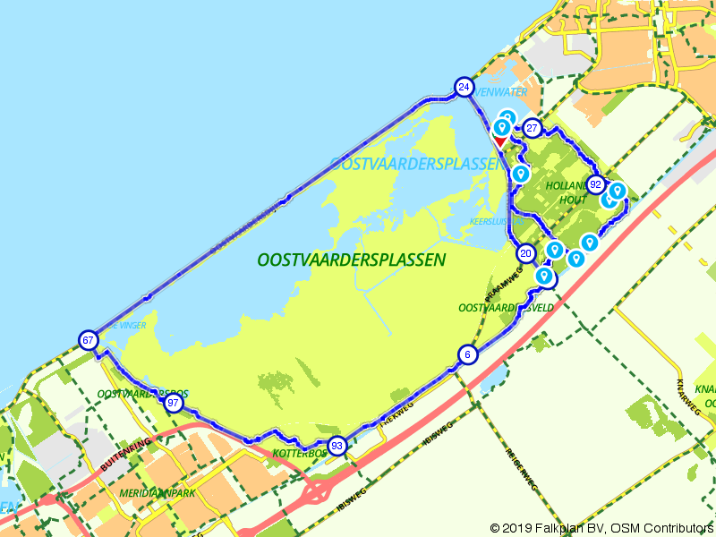Oostvaardersplassen en Hollandse Hout