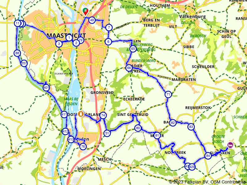Langs de Maasboulevard in Maastricht
