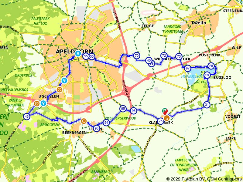 Van De Pol naar Bussloo langs Bruggelen of Engelanderholt