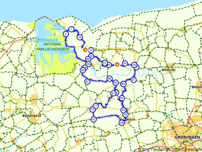 Een lange tocht door Groningen
