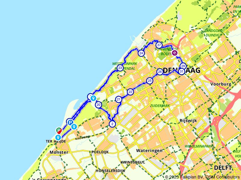 Fietsen door Den Haag en Scheveningen