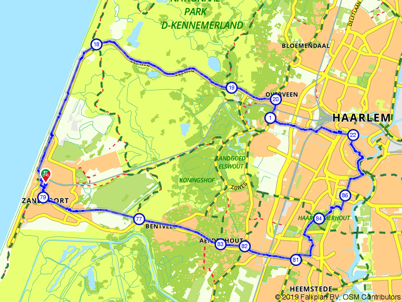 Rondje Zandvoort via Haarlem