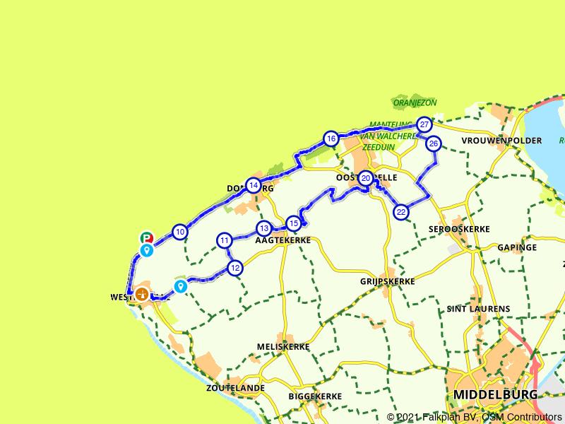 Rondje Oostkapelle, Domburg en Westkapelle
