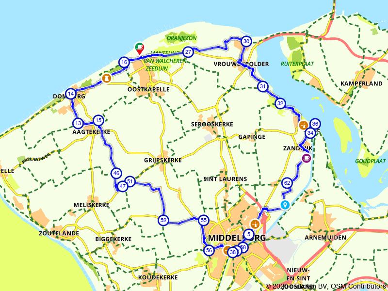 Fietsen langs Domburg, Veere en Middelburg
