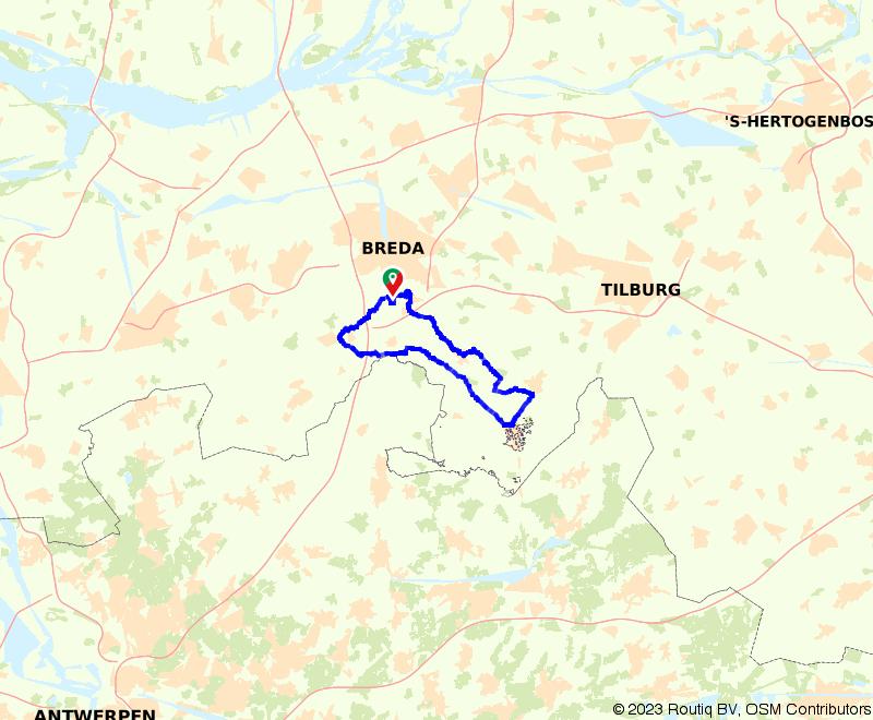 Fietsen langs Rijsbergen, Baarle-Nassau, Chaam en Ulvenhout