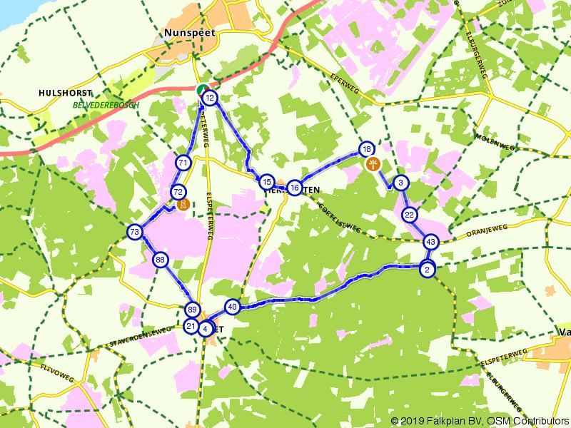 Bosrijk fietsen langs het Verscholen Dorp en de Stakenberg