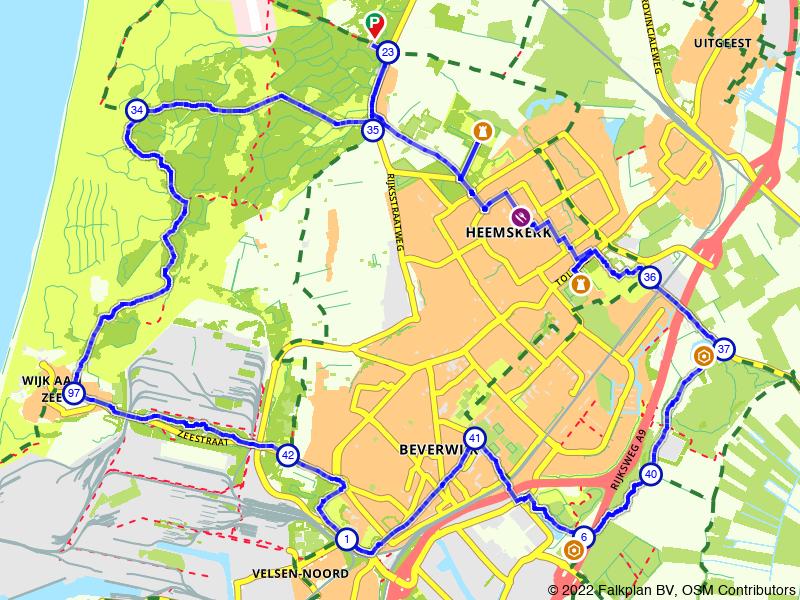 Castricum, Heemskerk en Beverwijk