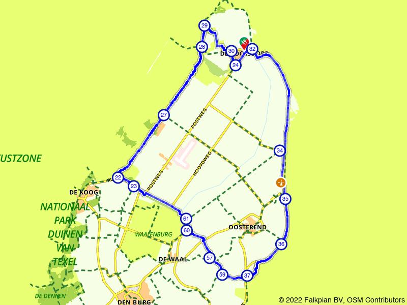 Texels de Cocksdorp, Eierland en Oosterend