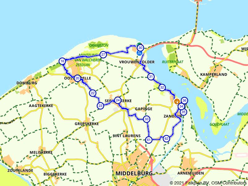 Oostkapelle, Breezand en Zanddijk