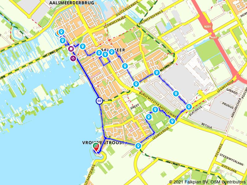 Wandelroute Aalsmeer, Kudelstaart en bloemenveiling