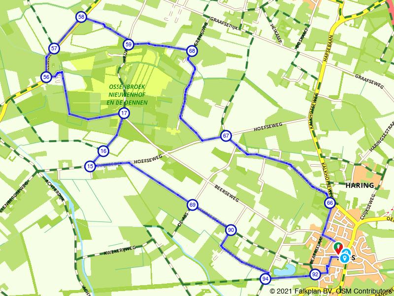 Wandelroute Haps, Ossenbroek en Nieuwenhof