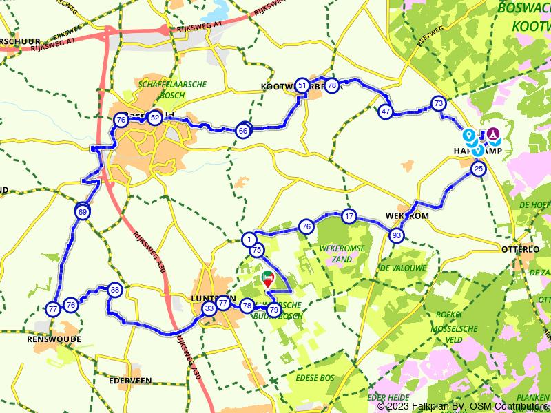 Rondje Lunteren, Harskamp en Barneveld