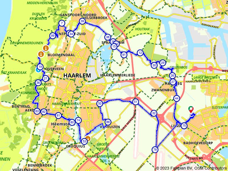 Badhoevedorp, Spaarndam en Haarlem