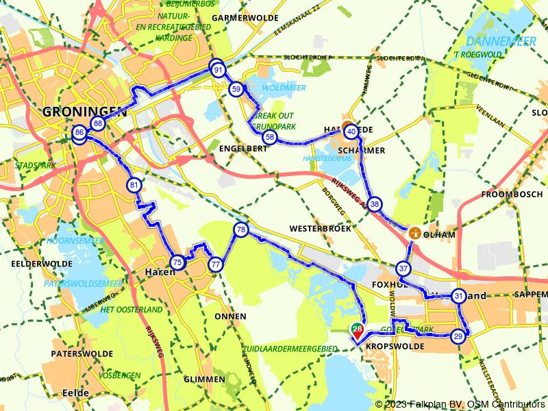 Molenroute Zuidlaardermeer en Groningen