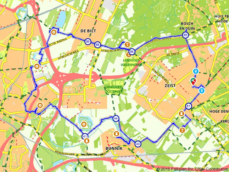 Zeist, Utrecht en De Bilt