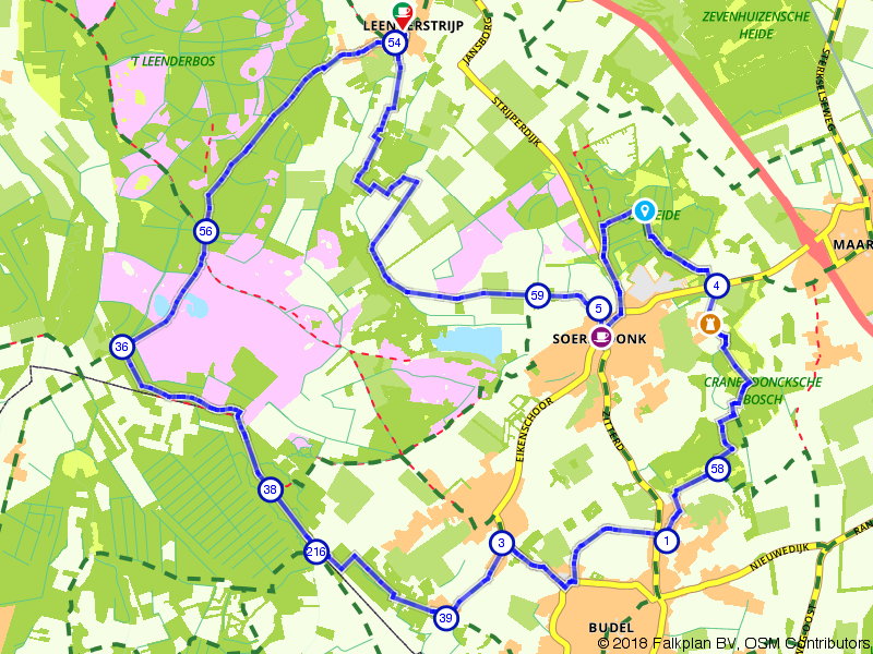 Het Leenderbos, de Groote Heide en het Cranendonkse Bos