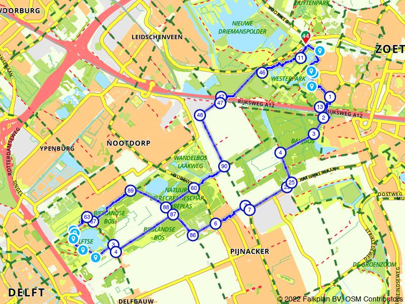 De groene long tussen Delft en Zoetermeer