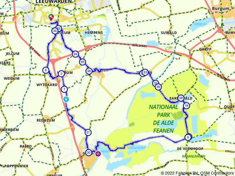 Leeuwarden, Warten en Grou