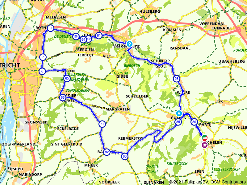 Mechelen, Valkenburg en Cadier en Keer
