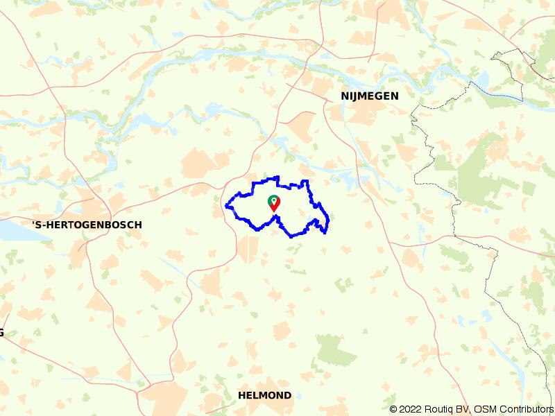 Een vierkantje door Brabants bos en hei