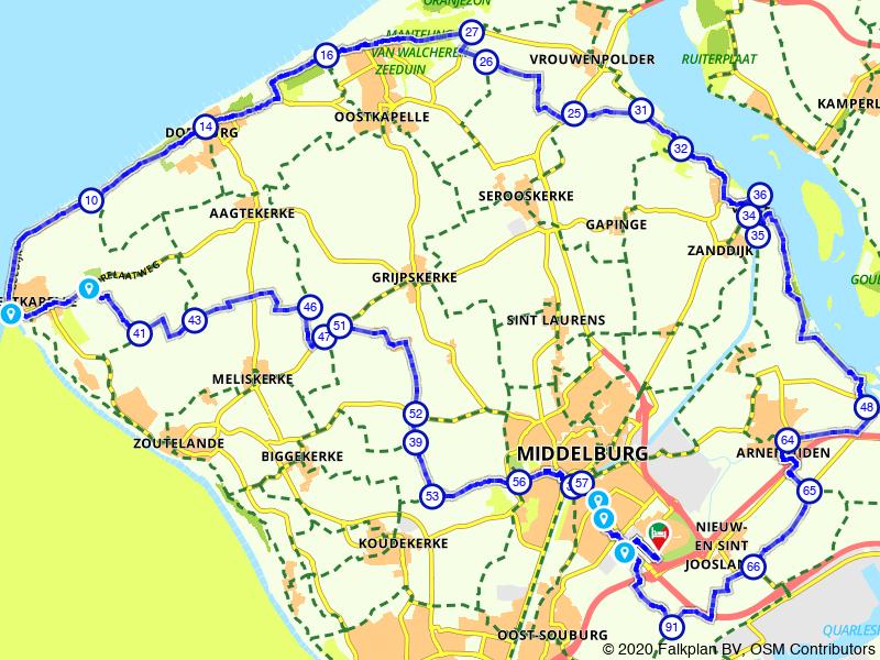 Rondje Veere en Domburg vanuit Middelburg
