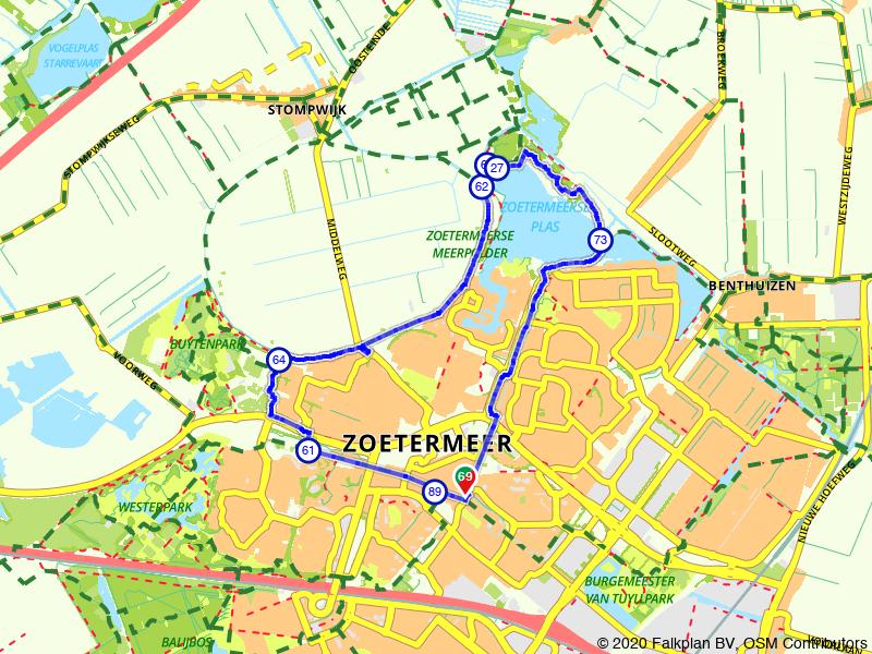 Rondje wandelen rondom de Zoetermeerse Plas