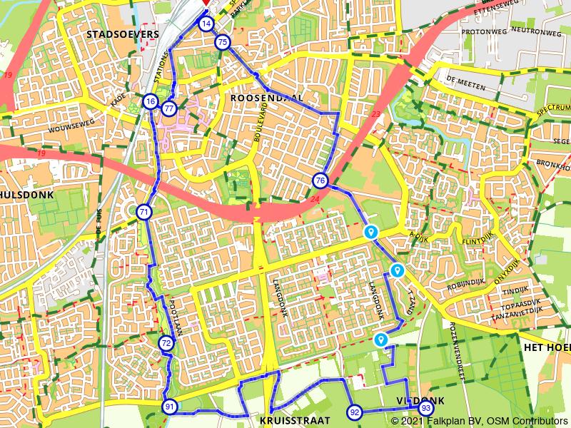 Stadswandeling Roosendaal naar Visdonk