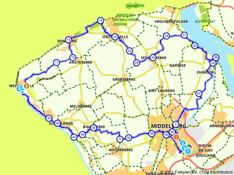 Rondje Domburg en Veere vanuit Middelburg