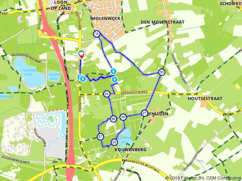 Rondje Noorderbos, Noorderplas en Moleneind