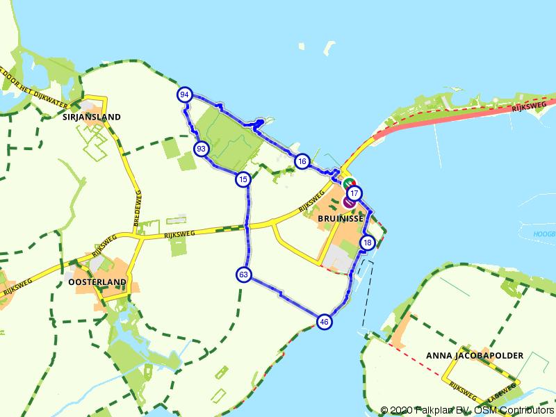 Rondje Bruinisse, Krammer en Grevelingenmeer
