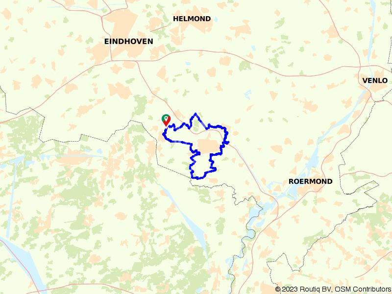 Rondje GrensPark Kempen-Broek vanuit Maarheeze