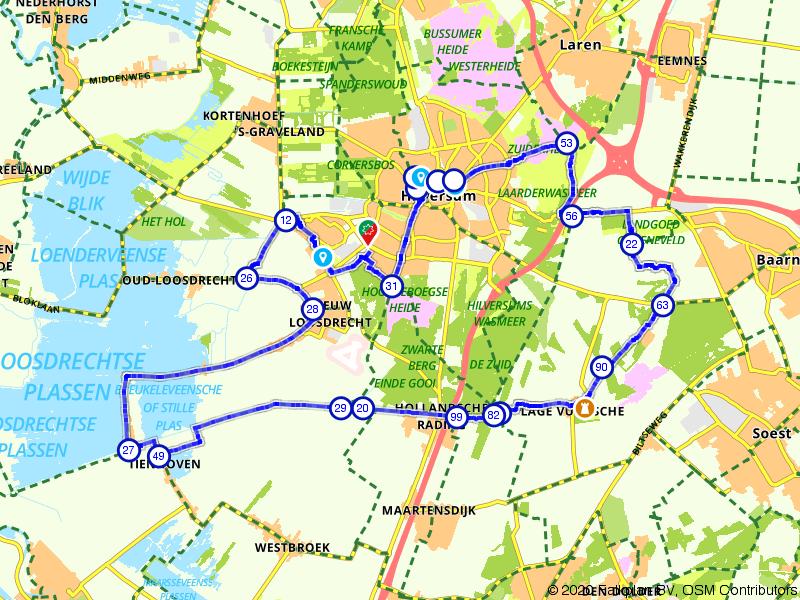 Rondje Hilversum, Kasteel Drakensteyn en Loosdrechtse plassen
