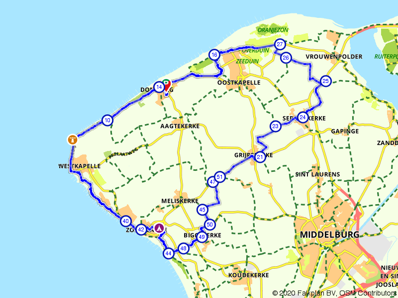 Rondje fietsen langs Domburg, Zoutelande en Oostkapelle