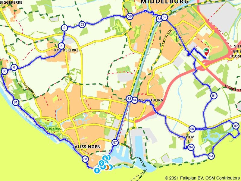 Rondje Middelburg, Vlissingen en Fort Rammekens