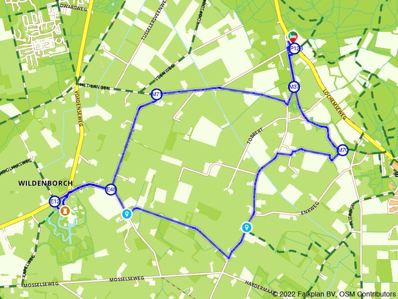Wandelen naar Kasteel De Wildenborch