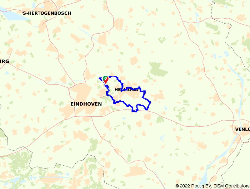Rondje fietsen door Bakel, Deurne en Helmond