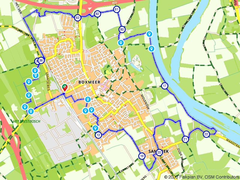 Wandelroute Maasheggen bij Boxmeer