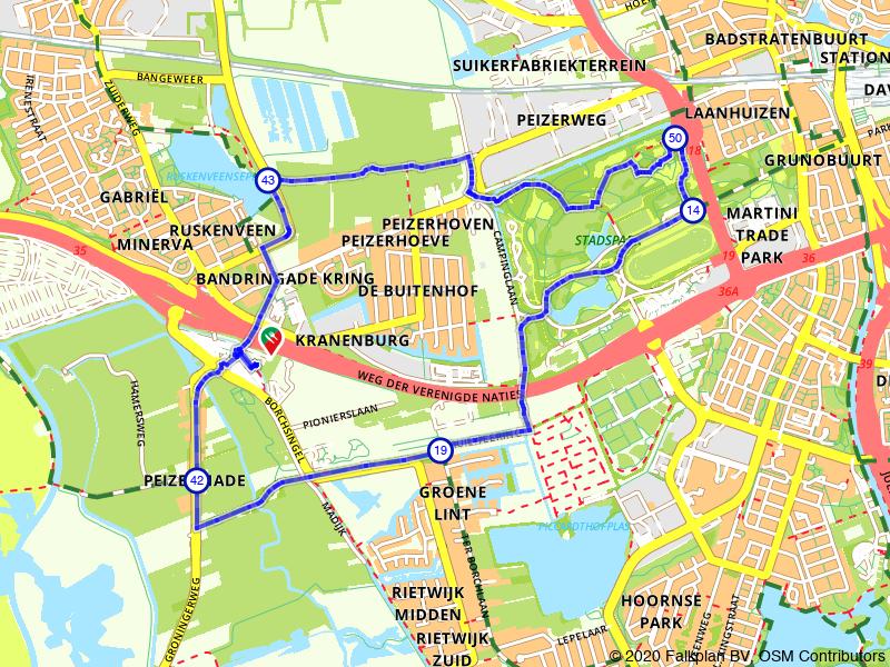 Rondje Stadspark vanuit Groningen