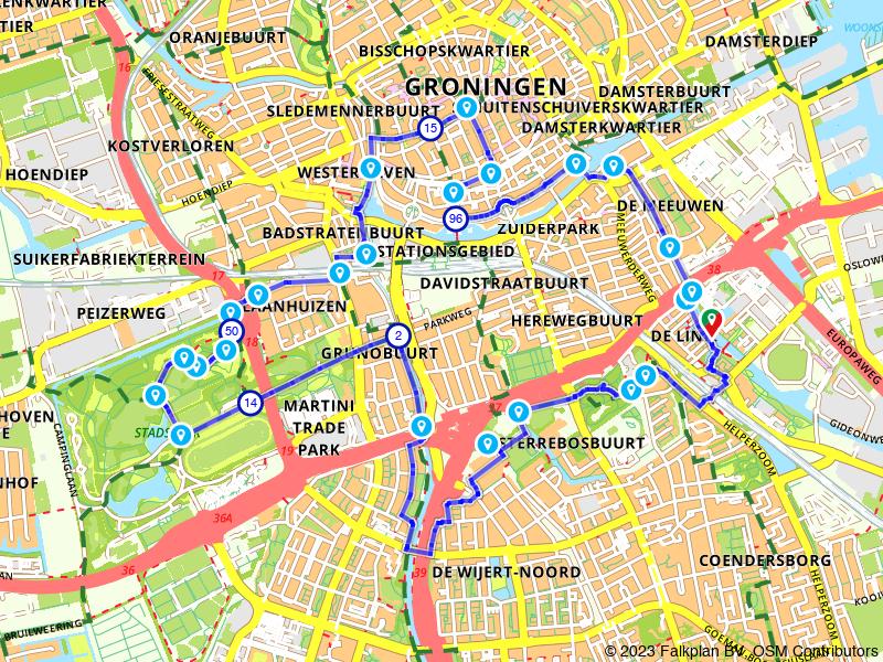 Rondje Groningen en Stadspark