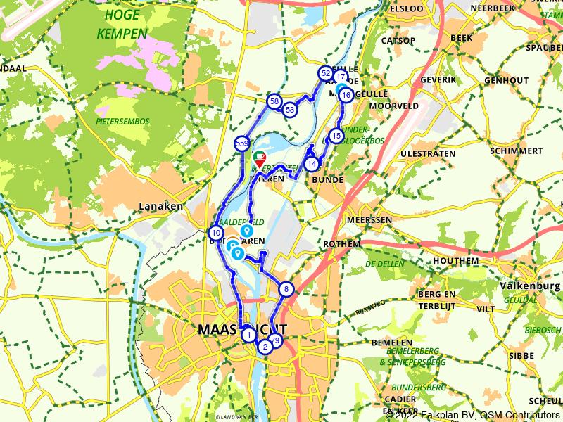 Rondje Bunde, Maastricht en Itteren