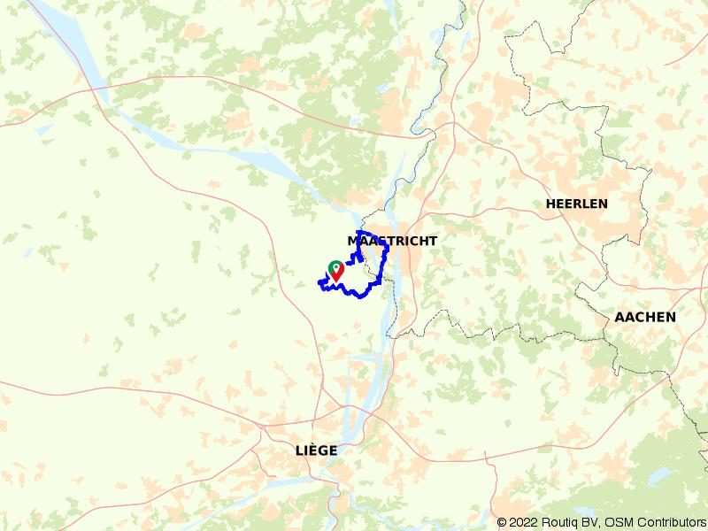 Grenshoppen tussen Maastricht en Riemst