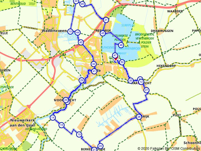 Haastrecht, Moordrecht en Reeuwijk